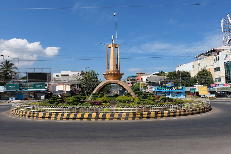 "The round ball or ""rotunda"" in Koronadal"